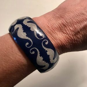 Jewelry - Cuff bracelet with seahorse design